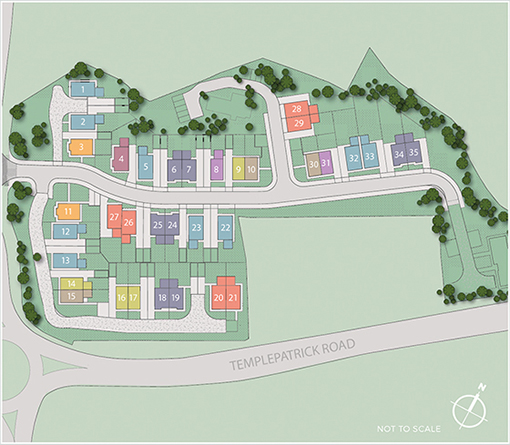 Site Map- Hansons Hall, Ballyclare