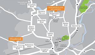 Magheraleve Meadows, Lisburn Map