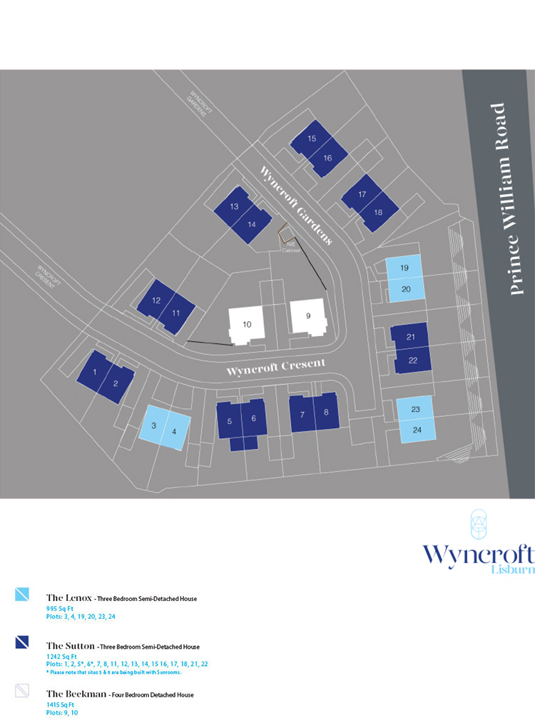 Site Map :: Wyncroft, Lisburn